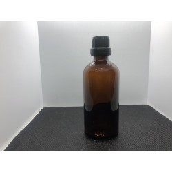 Glass bottle with euro dropper 100 ml.